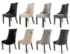 New Heston Velvet Dining Chair Stud And Knocker Oyster Black Light Or Deep Grey