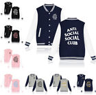 Men Anti Social Club Coat Kanye West Windbreaker ASSC Jacket Mantel Printed Lot