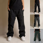 Winter Double Layer Men For Work Cargo Pants Warm Thick Pockets Trouser Oversize