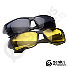 Driving Glasses - Full Kit - One For Day (Black) & One For Night (Yellow)