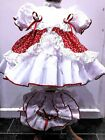 DREAM BABY RED CHERRY TRADITONAL LINED NET DRESS KNICKERS 0-6 MONTH REBORN DOLLS