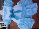 DREAM GIRLS ROMANY SPANISH BLUE PATCH FULLY LINED DRESS 1 - 4  YEARS OLD