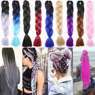 Hair Extensions Crochet Box Braids Braiding Hair Synthetic Ombre 100 pcs fo
