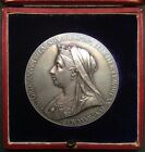 Stunning, Large .925 Silver 1897 Queen Victoria Diamond Jubilee Medal. Cased