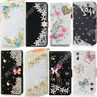 small leather case - Bling Magnetic Cover Stand Cards Wallet PU Leather Flip Case For Samsung Galaxy