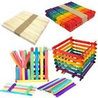 50pcs DIY Wooden Stick Building Blocks Toys Kids Education Construction EFFU