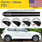 For BMW F21 1 Series M Performance Side Skirt Sill Vinyl Decal Stickers 2 Pcs US