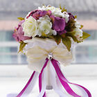 Wedding Bouquets Rose Peony W/ Pearl Bridal Bridesmaid Bouquet Flowers HO1