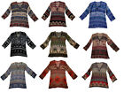 Indian Cotton Shirt Top Tops Free Size Long Sleeve Ladies Loose Fit Women Blouse