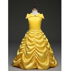 Kids Baby Girls Fairytale Princess Dress Ruched Long Maxi Party Costume Formal