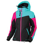 FXR™ Women's Vertical Edge Black/Mint/Pink Snowmobile Jacket 170211-1052-XX