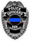 Thin Blue Line Police Officers Son Reflective Decal Sticker Law Enforcement BLET