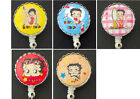 BETTY BOOP Retractable Reel ID Card Badge Holder/Key Chain/Security Ring $13.62 CAD