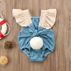 Toddler Infant Cute Kid Baby Girl Cotton Romper Jumpsuit Bodysuit Clothes Outfit