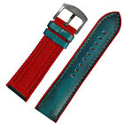 22mm 24mm Green Calf Skin Red Silicone Rubber Mens Womens Watch Strap Watch band