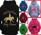 PERSONALISED BOYS GIRL HORSE RIDING HOODIE PLAITED SHOW PONY GYMKHANA PONY CLUB
