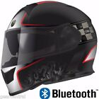 TORC T14 with Bluetooth Full Face Dual Visor Motorcycle Helmet Champion Red