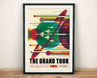 NASA POSTER: Grand Tour Retro Space Travel Print by JPL, Visions of the Future