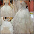 Luxury Crystal Applique Ball Wedding dress Sweetheart A-Line Sexy Bridal Gown