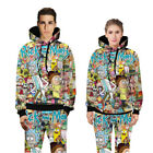Men Rick and Morty 3D Cartoon Graphic Casual Sweater Pants Jumper Sweatshirt-TV