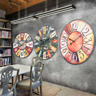 58cm 23'' Extra Large Wooden Wall Clock Ancient Modern Lacquer Surface Art Deco