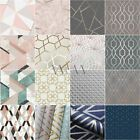 GEOMETRIC WALLPAPER ROOM DECOR MODERN VARIOUS DESIGNS AND COLOURS