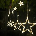 12 LEDs Star Curtain String Light Lamp Festival Room Wedding Party Decoration