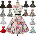Grace Karin VINTAGE 50s Polka Dots pinup Swing Full Circle Skirt Dresses Prom