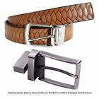 New Mens Animal Skin Tooling Genuine Leather 2 Sided Reversible Belts S-3XL