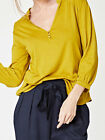 THOUGHT - BLY BAMBOO JERSEY BUTTON BLOUSE - sunflower - wst3533
