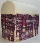 Cream Quilted Purple Wine Kitchenaid 4.5/5qt Tilt Head Mixer Cover READY TO SHIP