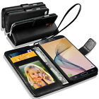Samsung Galaxy On7 Prime Leather Wallet Flip Book Case Cover