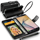 Samsung Galaxy On7 Prime Wallet Flip Book Case Cover With Big Stylus pen