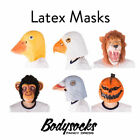 Adult Funny Realistic Latex Animal Full Head Mask Costume Halloween Masquerade