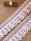 White Gathered Lace Double with Eyelet 2.5 inch/6.5 cm