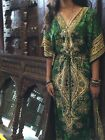 BOHEMIAN WOMENS MAXI CAFTAN DRESS DASHIKI PRINT KIMONO BEACH COVER UP ONE SIZE
