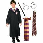 Kids Harry Potter Gryffindor Robe Costume Kit - Tie Scarf Wand & Glasses