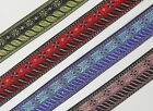 """1.20"""" (3.04 Cm) wide By The Yard Jacquard Trim Woven Border Sew Ribbon T622"""