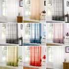 "Plain Slot Top Voile Ready Made Net Curtain Panel, 60"" (150cm) Wide"