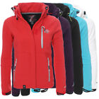 Geographical Norway Tehouda Damen Softshell Jacke Outdoor Übergangsjacke Parka