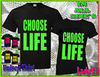 CHOOSE LIFE  MEN OR LADIES FITTED T SHIRT RETRO 80`s  FANCY DRESS  WHAM