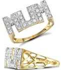 18K GOLD OVARLEY CZ MUM Ladies Ring Birthday Gift uk seller Top qality Precious Metal without Stones - 164341
