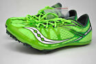Women's SAUCONY RACING BALLISTA Track Spike -Green/Silver (006) $110