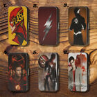 The Flash Barry All Logo TV Soft Touch PU Flip leather Case Cover Apple iPhone