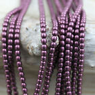 100pcs 4mm Smooth Round Czech glass beads - Pick your color!