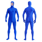 2018 Zentai Suit Men's Spandex Lycra Halloween Full Body Open Face Costume