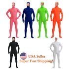 Внешний вид - 2018 Zentai Suit Men's Spandex Lycra Halloween Full Body Open Face Costume