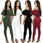 Women Jumpsuit Off Shoulder Playsuit Bodycon Party Jumpsuit Romper Trousers Long