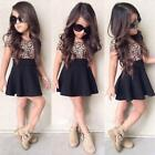 9 year old clothes girls - Kids Baby Girl Leopard Short Sleeve Dress A-Line O-Neck Party Dress Outfit Cloth