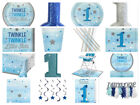 One Little Star Boys 1st First Birthday Party Cups Plates Napkins Invites Blue